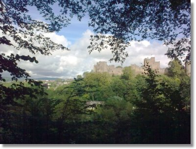 Ludlow Castle seen from Whitcliffe