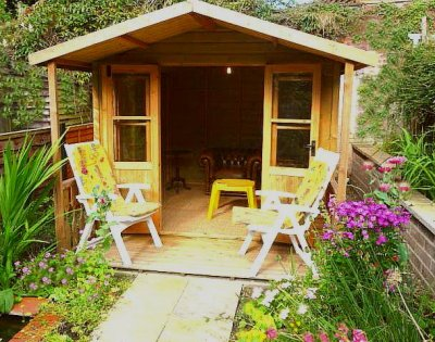 Selfcatering holiday cottages, Ludlow town centre, Shropshire, England, UK