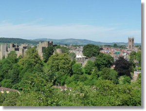 View of Ludlow from Whitcliffe.